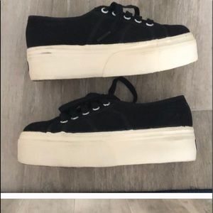 black superga platform size 5